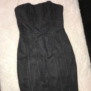 Suade black mini dress